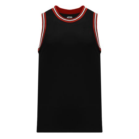 B1710 Pro Basketball Jersey - Black/Red/White
