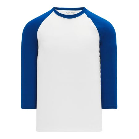 BA1846 Pullover Baseball Jersey - White/Royal
