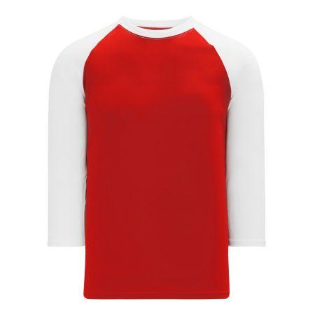 BA1846 Pullover Baseball Jersey - Red/White