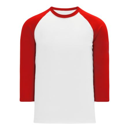 BA1846 Pullover Baseball Jersey - White/Red