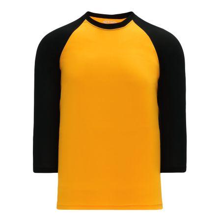 BA1846 Pullover Baseball Jersey - Gold/Black