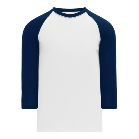 BA1846 Pullover Baseball Jersey - White/Navy