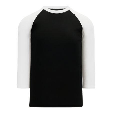 BA1846 Pullover Baseball Jersey - Black/White