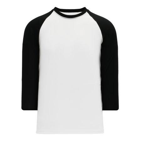 BA1846 Pullover Baseball Jersey - White/Black