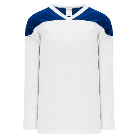H6100 League Hockey Jersey - White/Royal