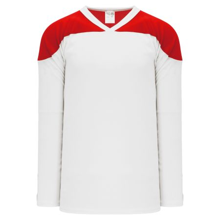 H6100 League Hockey Jersey - White/Red