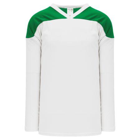 H6100 League Hockey Jersey - White/Kelly