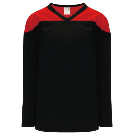 H6100 League Hockey Jersey - Black/Red