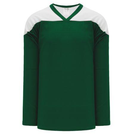 H6100 League Hockey Jersey - Dark Green/White