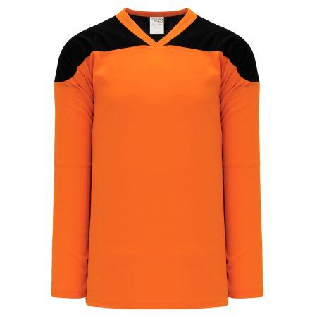 H6100 League Hockey Jersey - Orange/Black