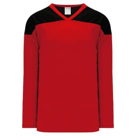 H6100 League Hockey Jersey - Red/Black