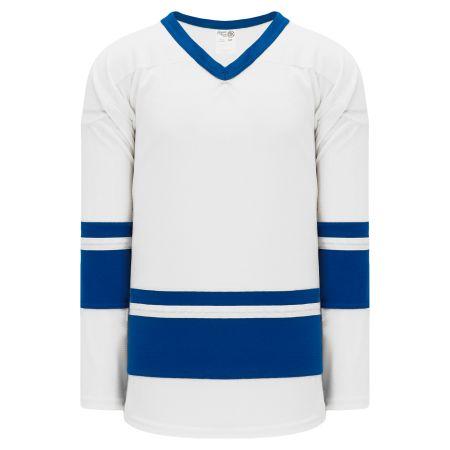 H6400 League Hockey Jersey - White/Royal