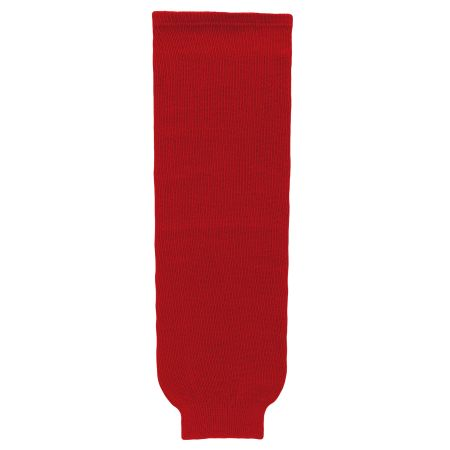 HS630 Knitted Solid Hockey Socks - Red