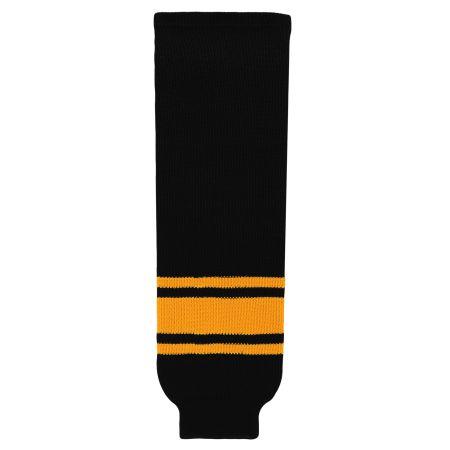 HS630 Knitted Striped Hockey Socks - Black/Gold