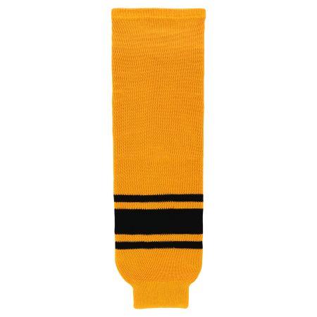HS630 Knitted Striped Hockey Socks - Gold/Black