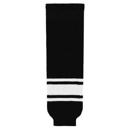 HS630 Knitted Striped Hockey Socks - Black/White