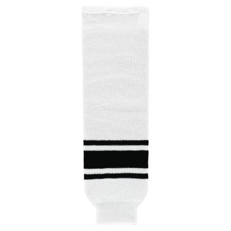 HS630 Knitted Striped Hockey Socks - White/Black