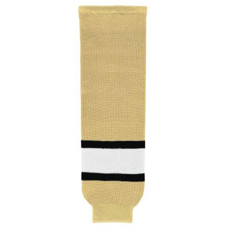 HS630 Knitted Striped Hockey Socks - Vegas/Black/White