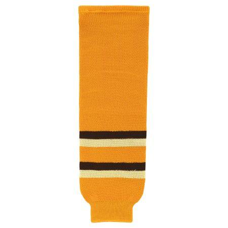 HS630 Knitted Striped Hockey Socks - Boston Winter Classic Gold