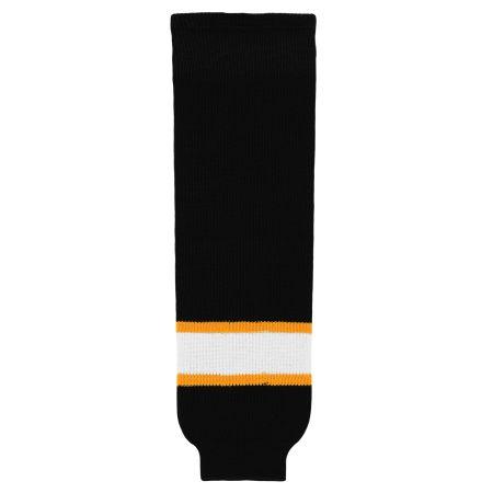 HS630 Knitted Striped Hockey Socks - Boston Black