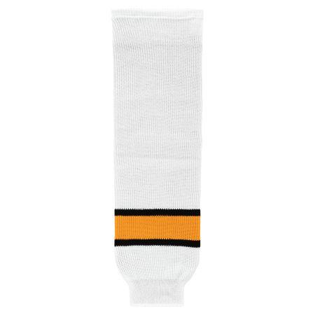HS630 Knitted Striped Hockey Socks - Boston White