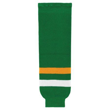 HS630 Knitted Striped Hockey Socks - Old Minnesota Kelly