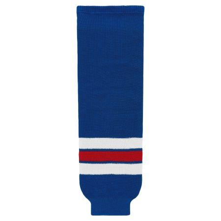 HS630 Knitted Striped Hockey Socks - New York Rangers Royal