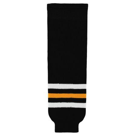 HS630 Knitted Striped Hockey Socks - Pittsurgh Black