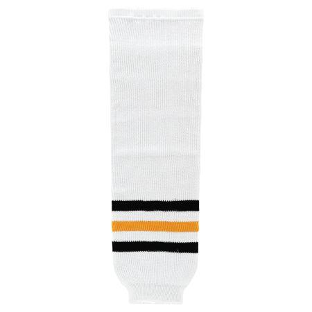 HS630 Knitted Striped Hockey Socks - Pittsburgh White