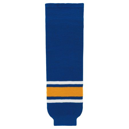 HS630 Knitted Striped Hockey Socks - Old St. Louis Royal