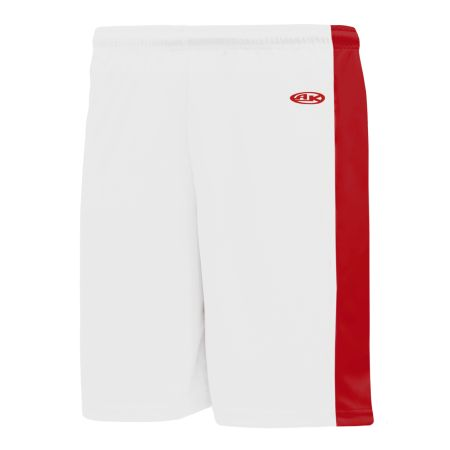 SS9145 Soccer Shorts - White/Red