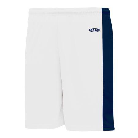 SS9145 Soccer Shorts - White/Navy