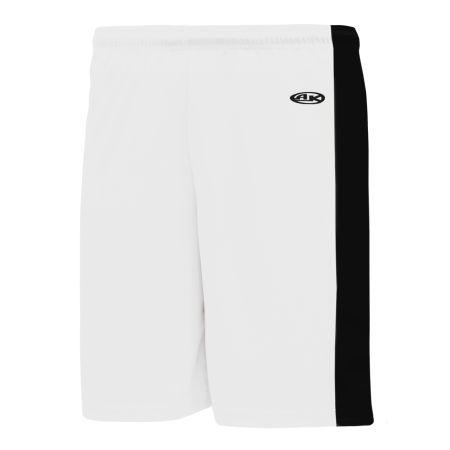 SS9145 Soccer Shorts - White/Black