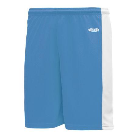 SS9145 Soccer Shorts - Sky/White