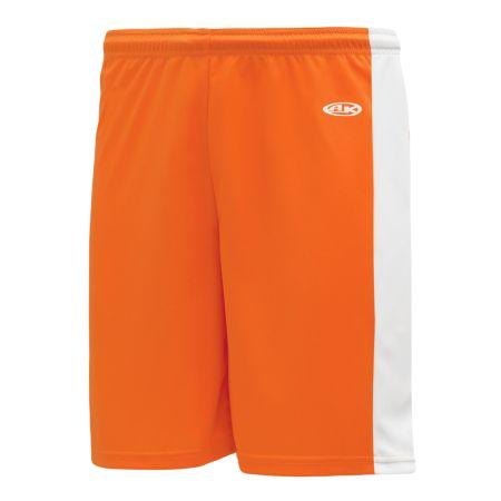 SS9145 Soccer Shorts - Orange/White