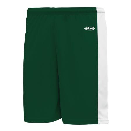 SS9145 Soccer Shorts - Dark Green/White