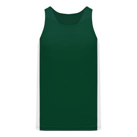 T205 Track Jersey - Dark Green/White