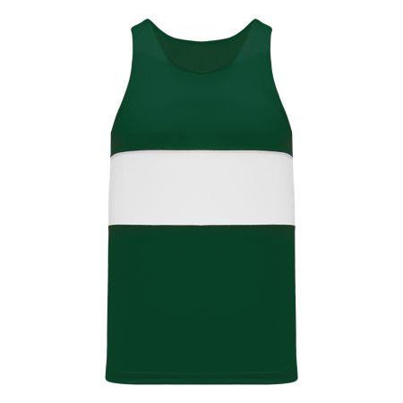 T220 Track Jersey - Dark Green/White
