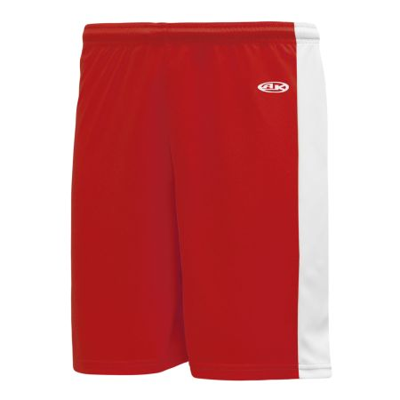 VS9145 Volleyball Shorts - Red/White