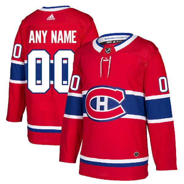 Custom Montreal Canadiens Jersey Adidas Authentic Home