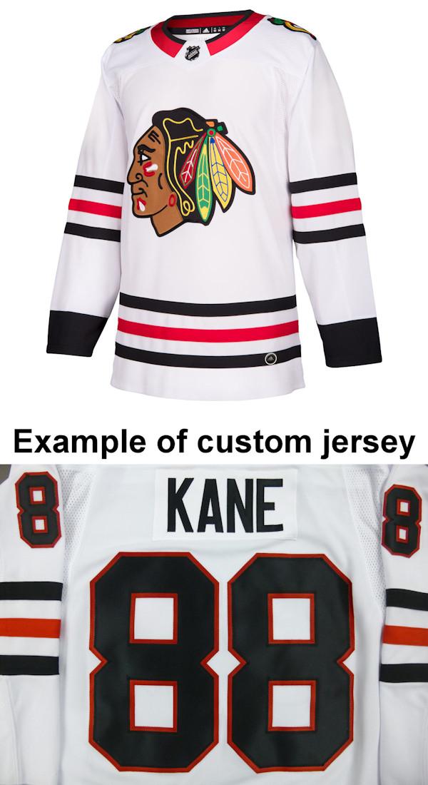 Pro Customized - ANY NAME - Adidas Authentic Chicago Blackhawks Jersey - Away