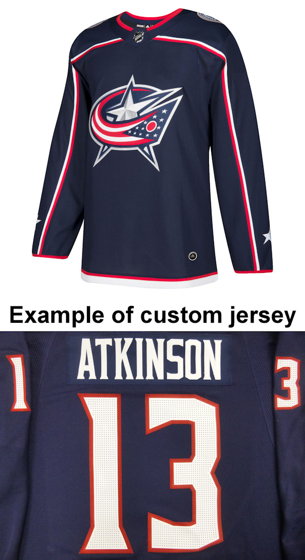 Pro Customized - ANY NAME - Adidas Authentic Columbus Blue Jackets Jersey - Home