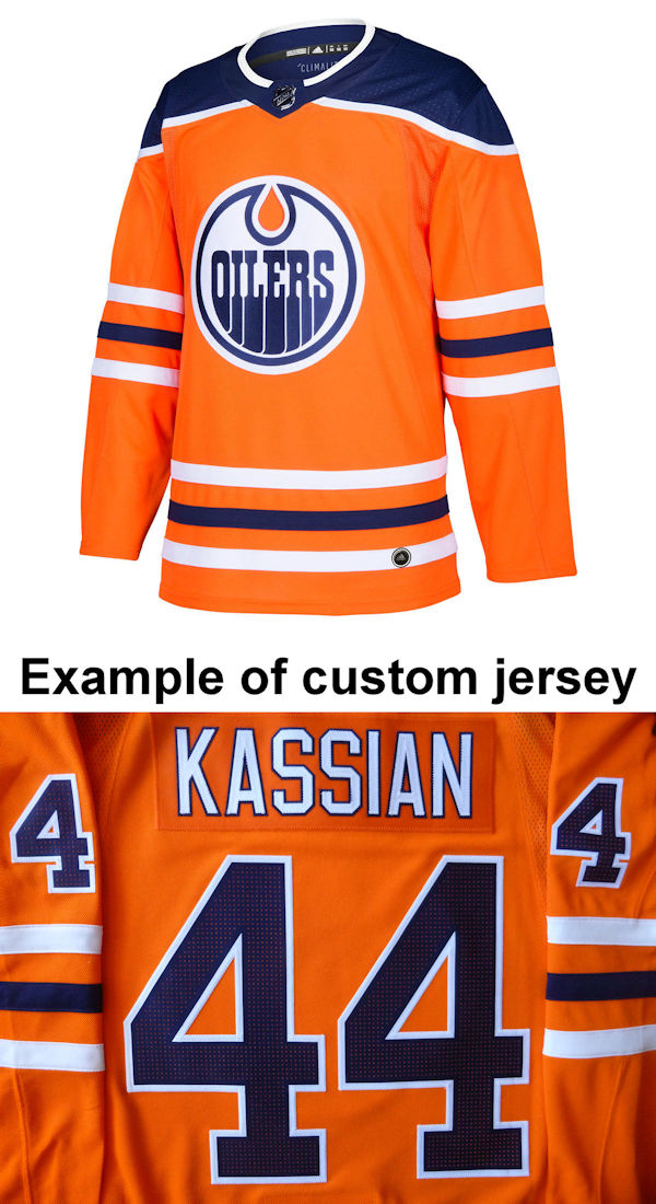 Pro Customized - ANY NAME - Adidas Authentic Edmonton Oilers Jersey - Home