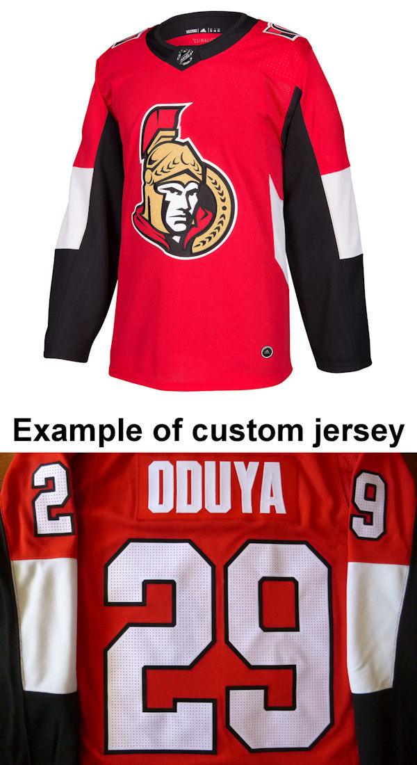 Pro Customized - ANY NAME - Adidas Authentic Ottawa Senators Jersey - Home