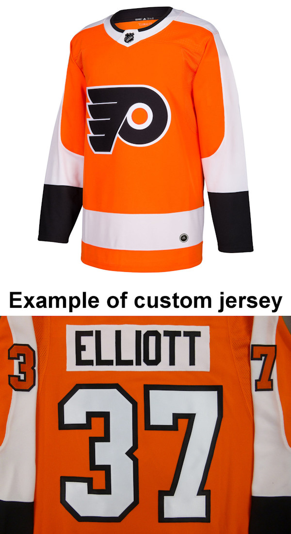 Pro Customized - ANY NAME - Adidas Authentic Philadelphia Flyers Jersey - Home