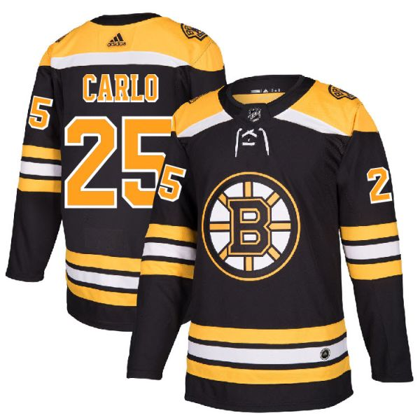 check out 7a865 3315d Pro Customized - #25 Brandon Carlo - Adidas Authentic Boston Bruins Jersey  - Home