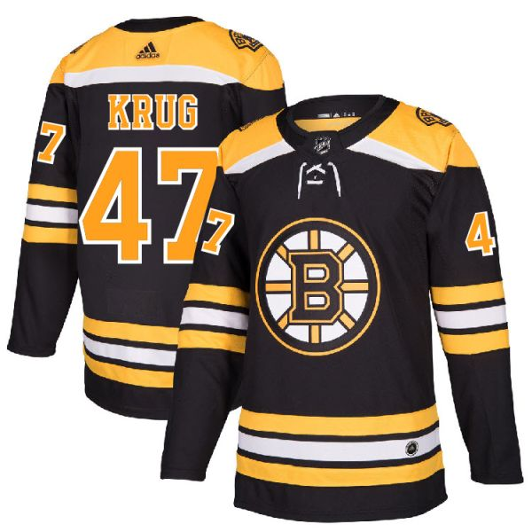 size 40 1270f 40c41 Pro Customized - #47 Torey Krug - Adidas Authentic Boston Bruins Jersey -  Home