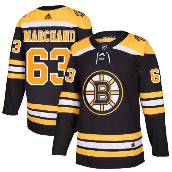 reputable site eb24b dbd4a Pro Customized - #63 Brad Marchand - Adidas Authentic Boston Bruins Jersey  - Home