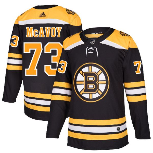 sports shoes 411a5 37eec Pro Customized - #73 Charlie McAvoy - Adidas Authentic Boston Bruins Jersey  - Home