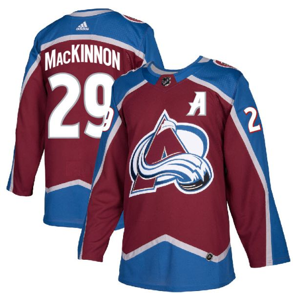 best authentic 699d2 620d3 Pro Customized - #29 A Nathan MacKinnon - Adidas Authentic Colorado  Avalanche Jersey - Home